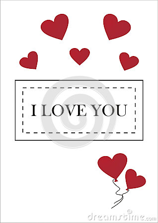 Greeting card for Valentines day