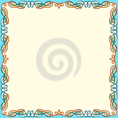 Free Greeting Card With Color Swirl Frame Stock Photography - 109880662