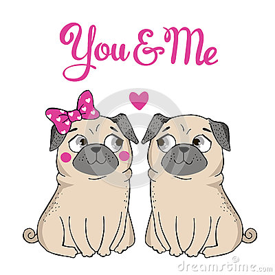 Free Greeting Card With Funny Pug Stock Photo - 64660900