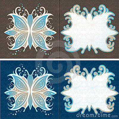 Greeting Cards Abstract Butterfly Vector