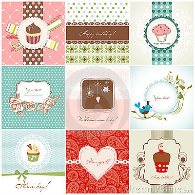 Greeting cards set