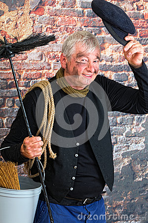 Greeting chimney sweep