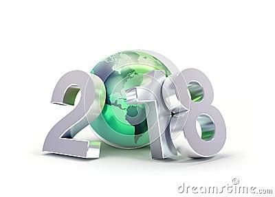 2018 Greeting symbol for environment Cartoon Illustration