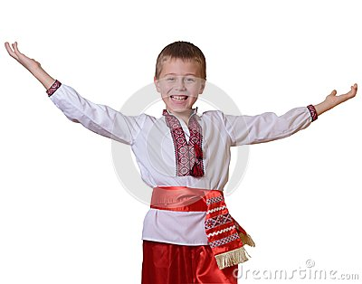 Greeting Ukrainian boy