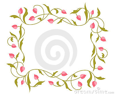 Greetings card with floral pattern.