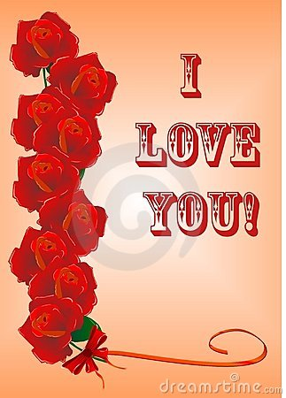 Greetings  card with roses