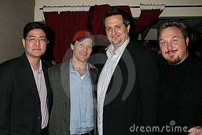Greg Hatanaka and Michael Leydon Campbell with Craig Carlisle and Keith Kjarval at the Los Angeles Premiere Of  Bob Funk . Laemmle Editorial Photography
