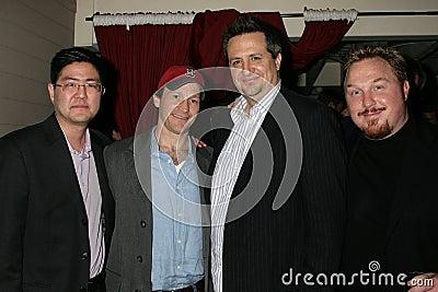 Greg Hatanaka and Michael Leydon Campbell with Craig Carlisle and Keith Kjarval at the Los Angeles Premiere Of  Bob Funk . Laemmle Editorial Photography