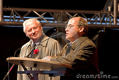 Gregor Gysi and Oskar Lafontaine Editorial Photo