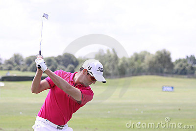 Gregory Bourdy at Andalucia Golf Open, Marbella Editorial Photography