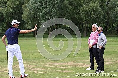 Gregory Bourdy no golfe francês abre 2013 Imagem Editorial