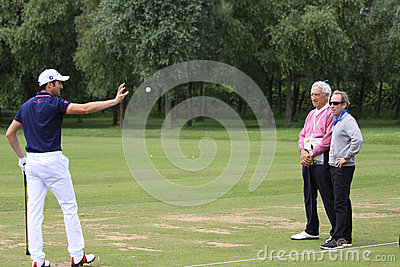 Gregory Bourdy på den franska golfen öppnar 2013 Redaktionell Foto