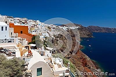 Grekland Santorini sikter