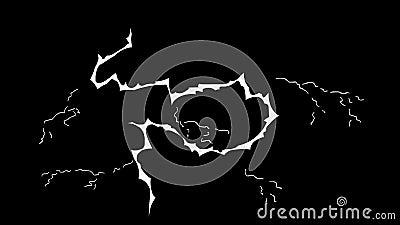 Grelle elektrische Elemente FXs 24 fps stock video footage