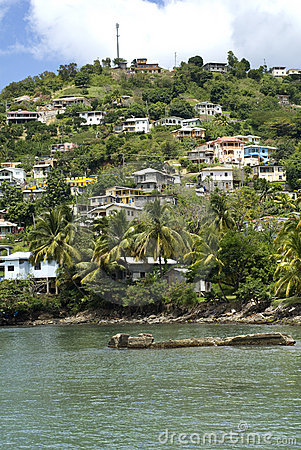 Grenada homes on the hillside.