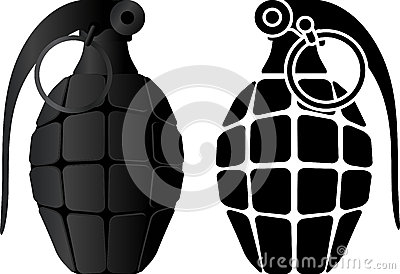 Grenade and grenade stencil