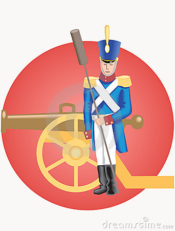 Grenadier and cannon