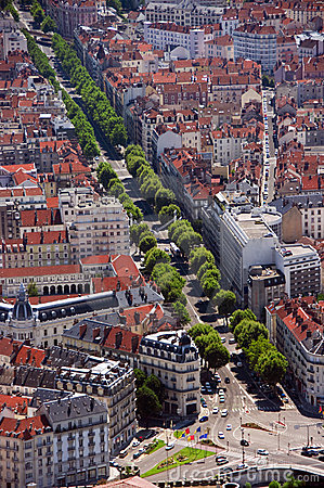 Grenoble aerial view
