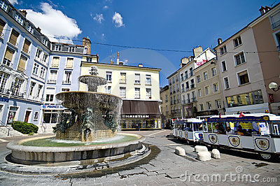 Grenoble city square Editorial Photography