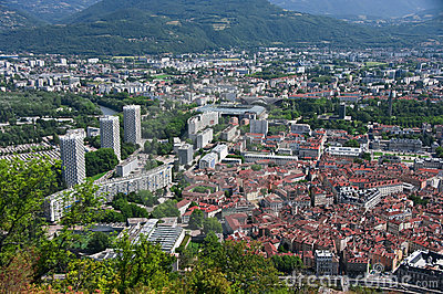 Grenoble Old And New Royalty Free Stock Images - Image: 11212939