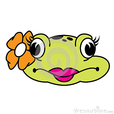 Grenouille femelle mignonne