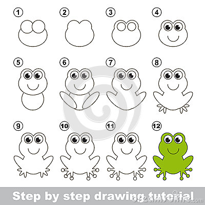 Grenouille verte cours de dessin illustration de vecteur image 65645553 - Dessin de grenouille verte ...