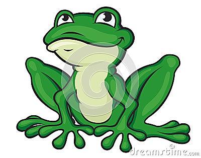 Grenouille verte de dessin anim images stock - Dessin de grenouille verte ...