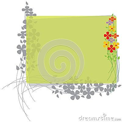 Grens met Bloemen en lijnen