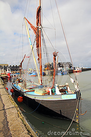 Greta sailing barge in whitstable harbour Editorial Photography