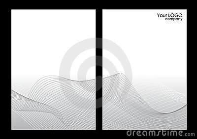 Grey abstract background, front and back