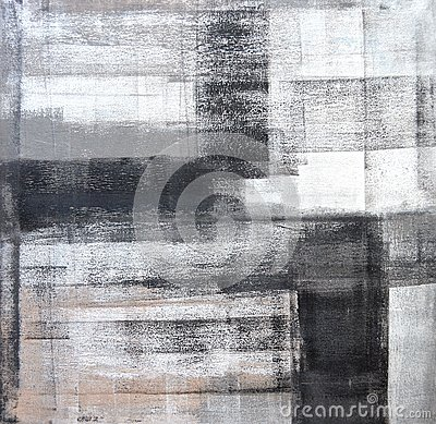 Free Grey And Black Abstract Art Painting Royalty Free Stock Image - 31769836
