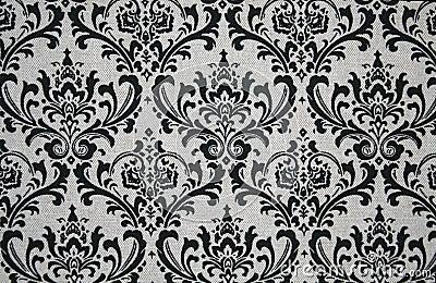 Grey and Black Damask Pattern