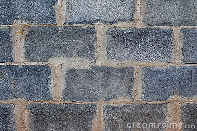 A grey blocks wall