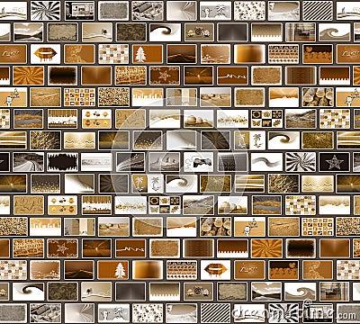 Grey brown mosaic wall