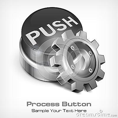 Grey button with dollar, Grey button with dollar
