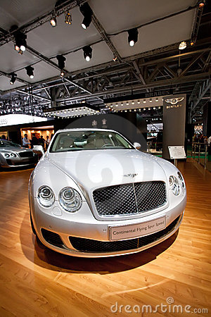 Grey car Bentley Continental Editorial Stock Image