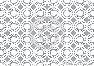 Grey Circle Kaleidoscope Pattern Background For Wallpaper