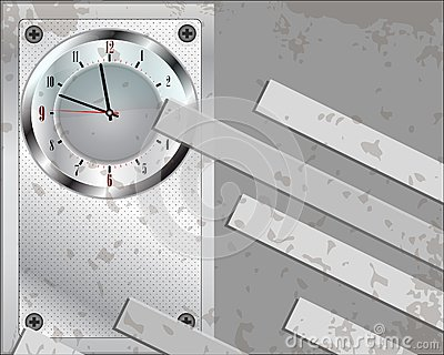 Grey clock background