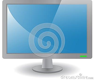 Grey desktop monitor