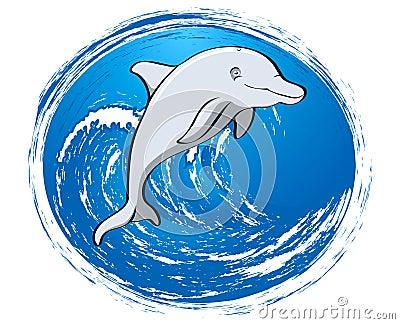 Grey dolphin friend