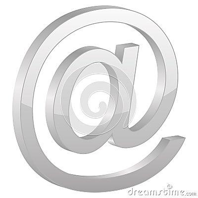 Grey e-mail symbol