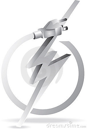 Free Grey Electric Plug Royalty Free Stock Photo - 17611945