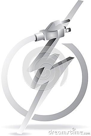 Grey electric plug