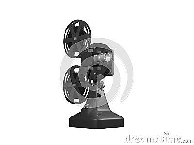 Grey film projector