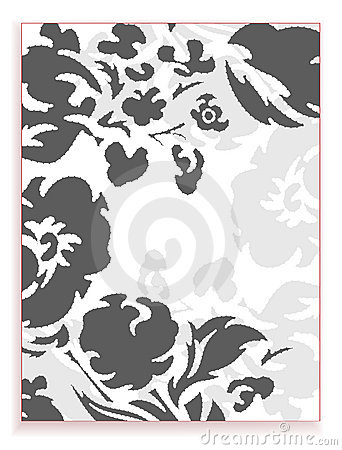 Grey flower stylized background