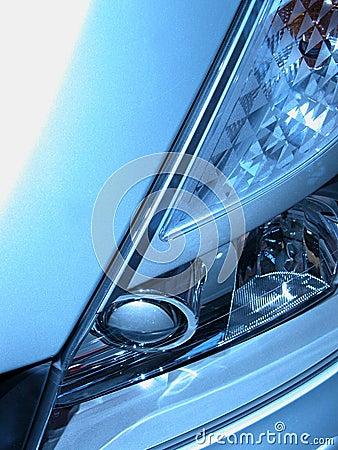 Grey headlight Stock Photo