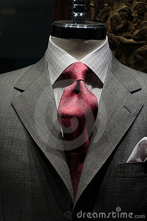 Free Grey Jacket With Red Tie Stock Images - 1578384