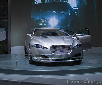 Grey Jaguar C-XF Editorial Stock Image