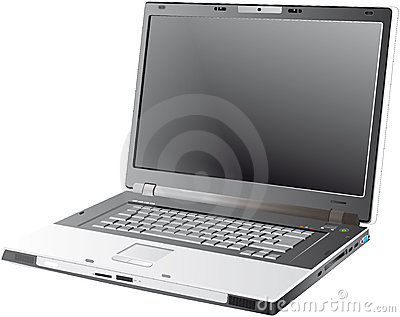 Grey Laptop - Vector