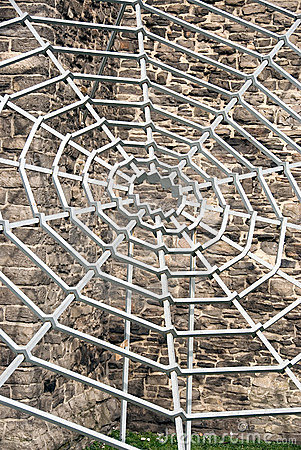 Grey metal spiderweb